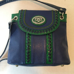 BNWT Sharif Blue & Green Crossbody Purse